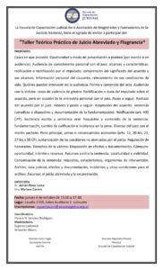 Taller Teórico Práctico de Juicio Abreviado y Flagrancia @ Auditorio 2 | Buenos Aires | Argentina
