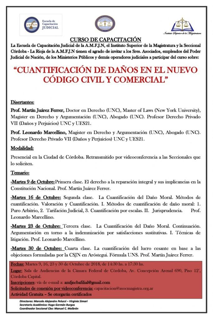 """Curso de """"Cuantificación de Daños en el nuevo Código Civil y Comercial"""""""