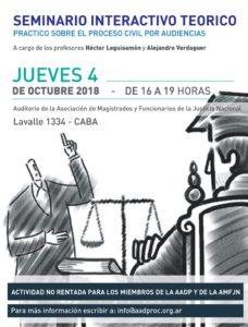 Seminario Interactivo Teórico - Práctico sobre el Proceso Civil por Audiencias @ Auditorio 1 | Buenos Aires | Argentina